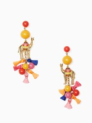 Kate Spade Spice Things Up Camel Statement Earrings Multi