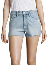 Mother Miranda Kerr X Easy Does It High Rise Cut Off Denim Shorts Thanks For Everything