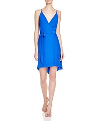 Amanda Uprichard Alex Silk Wrap Dress Royal