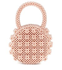 Shrimps Selena Beaded Tote Pink