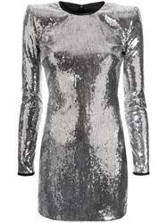 Dsquared2 Sequinned Fitted Dress Silver