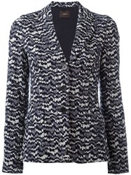 Odeeh Knitted Fitted Jacket Blue