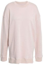 Iro Woman Aloba Linen And Cotton Blend French Terry Sweatshirt Pastel Pink