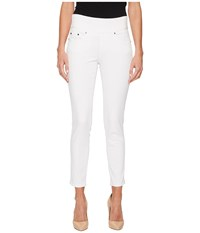 Jag Jeans Nora Skinny Ankle Pull On In Freedom Knit Denim White Women's
