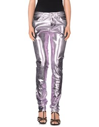 Blumarine Denim Denim Trousers Women Light Purple