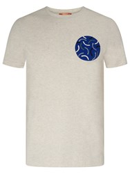 John Lewis Kin By Cut Curve Embroidered Print T Shirt Stone