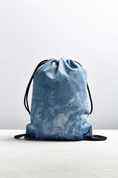 Urban Outfitters Uo Cloud Wash Denim Cinch Backpack Light Blue