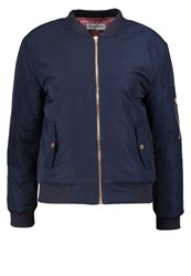 Glamorous Bomber Jacket Navy Dusty Pink Dark Blue