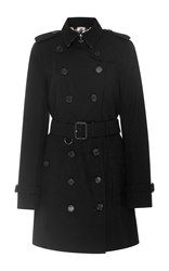 Burberry Sandringham Double Breasted Trench Coat Black