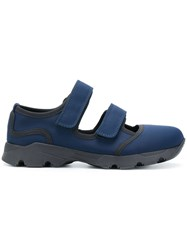 Marni Bimba Sneakers Rubber Cotton Nylon Spandex Elastane Blue