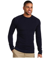 Smartwool Midweight Crew Neck Shirt Deep Navy Men's Clothing
