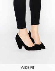 Asos Sapphire Wide Fit Pointed Heels Black