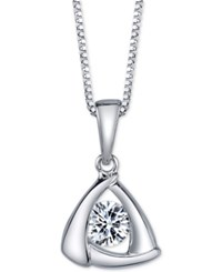 Sirena Diamond Triangle Pendant Necklace 1 5 Ct. T.W. In 14K Gold Or White Gold
