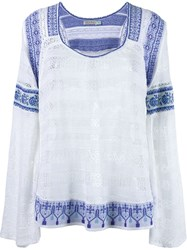 Cecilia Prado Knit Blouse White