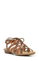 Naturalizer Women's 'Whimsy' Ghillie Sandal Saddle Leather