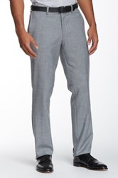 Louis Raphael Modern Fit Straight Leg Pant Gray