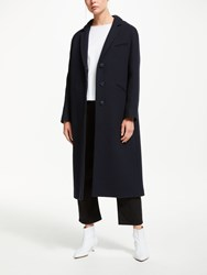 John Lewis Kin By Relaxed Fit Crombie Coat Navy