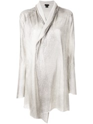 Avant Toi Longline Cardi Coat Nude And Neutrals