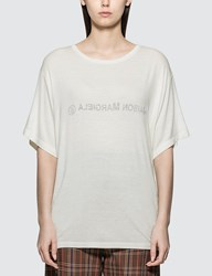 Maison Martin Margiela Mm6 Inside Out T Shirt White