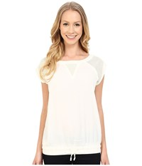 Calvin Klein Jeans Mixed Perf Sport Shell Misty White Women's Blouse