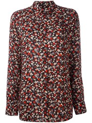 Paul Smith Ps By Floral Print Shirt Black