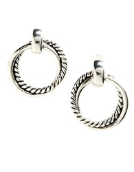 Lauren Ralph Lauren Twisted Link Doorknocker Earrings Silver