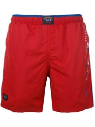 Paul And Shark Swim Shorts Men Nylon Polyester Xxxxl Red