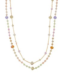 Emily And Ashley Simulated Crystal Double Strand Necklace Pink