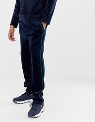 Native Youth Co Ord Velour Joggers Navy