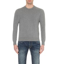 Armani Jeans Crewneck Cotton Jumper Grey