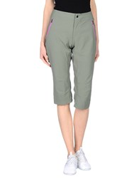 Columbia Trousers 3 4 Length Trousers Women Military Green
