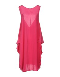Douuod Knee Length Dresses Pink