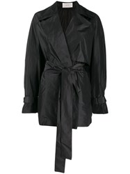 The Row Keera Belted Jacket Black