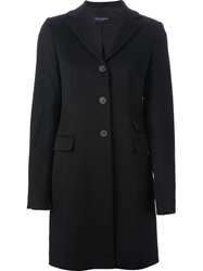 Piazza Sempione Classic Notched Lapels Coat Black