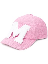 Msgm Terry Patch Baseball Cap Pink And Purple