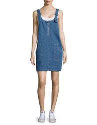 Noisy May Denim Jumper Dress Blue