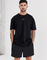 Good For Nothing Oversized T Shirt In Black With Neon Logo