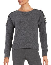 Steve Madden Lace Up Roundneck Pullover Black Tea