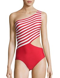 Michael Kors Stable Striped One Piece Swimsuit