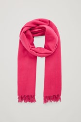 Cos Wool Cashmere Scarf Pink