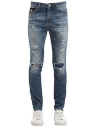 John Richmond Broken Skinny Cotton Denim Jeans