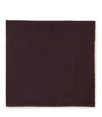 Reiss Wasp Wool Pocket Square In Red Mens