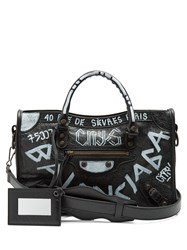 Balenciaga Classic City S Graffiti Black White