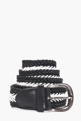 Boohoo Lattice Belt With Metal Buckle Black