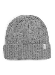 Selected Homme Grey Textured Pattern Beanie Hat