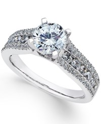 Macy's Certified Diamond Engagement Ring 1 3 4 Ct. T.W. In 18K White Gold