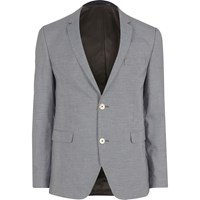 Jack And Jones River Island Mens Navy Premium Blazer
