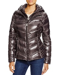 Laundry By Shelli Segal Hooded Quilted Puffer Jacket Charcoal