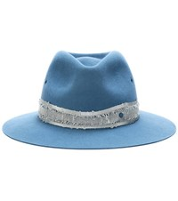 Maison Michel Rico Rabbit Felt Hat Blue