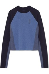 Lndr Snug Color Block Merino Wool Sweater Midnight Blue